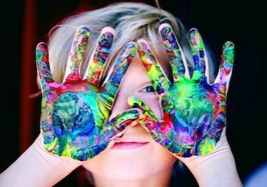 pexels kid hands paint